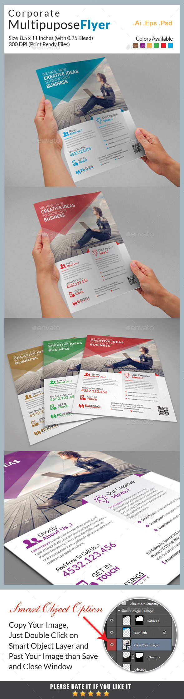 Corporate Flyer Template #design Download: http://graphicriver.net/item/corporate-flyer/12270589?ref=ksioks