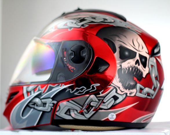 Мэри детский шлем мотоциклетный шлем MASEI выставить козырек плакировкой кито красный череп нью-джерси 822