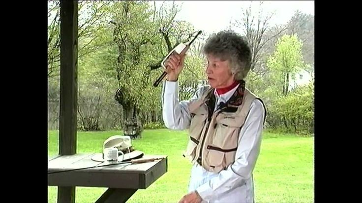 Joan Wulff, master fly caster and fishing legend, shows just how easy fly fishing is