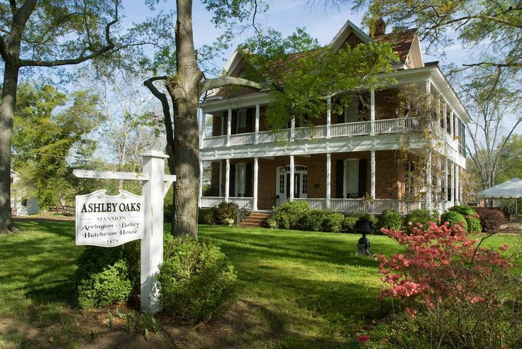 """The plantation home of Ashley Wilkes in """"Gone with the Wind"""" in Jonesboro, Georgia. The site for the shooting of the barbeque scene in Margaret Mitchell's famous book turned into film."""