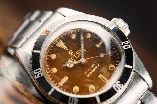 hot sale online 78ec0 b50eb Rolex Submariner 'Big Crown' Tropical Dial Ref. 6538 Watch ...