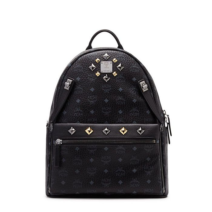 MCM Medium Dual Stark Backpack In Black