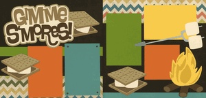 Gimme S'mores! Page Kit | Camping Scrapbook Pages | Pinterest
