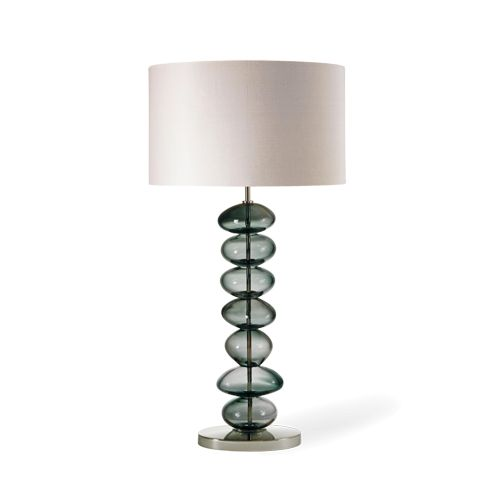 Porta Romana - GLB21L, Adam Lamp, Large - Charcoal with Nickel base