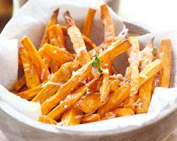Parmesan Sweet Potato Fries - Easy Recipes at RasaMalaysia.com