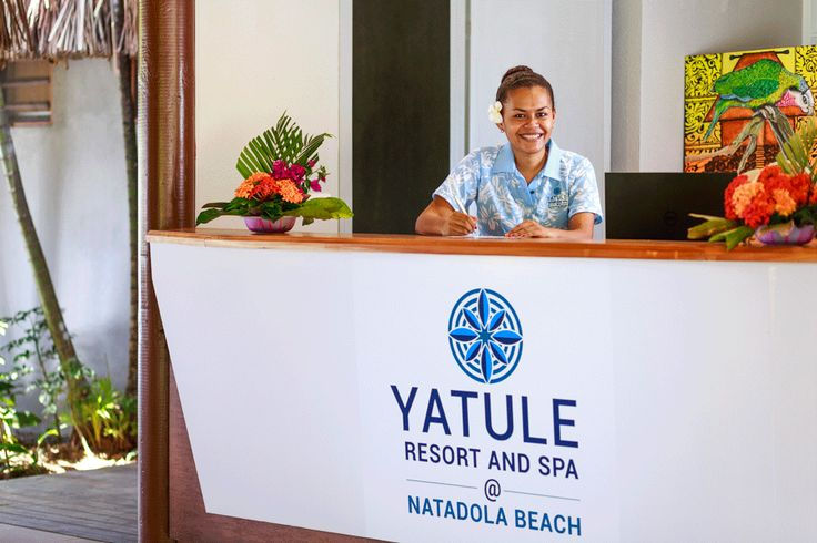 Our friendly reception staff at Yatule Resort and Spa!