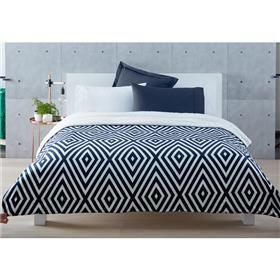 Reversible Sherpa Fleece Blanket - Diamond, Double Bed/Queen Bed