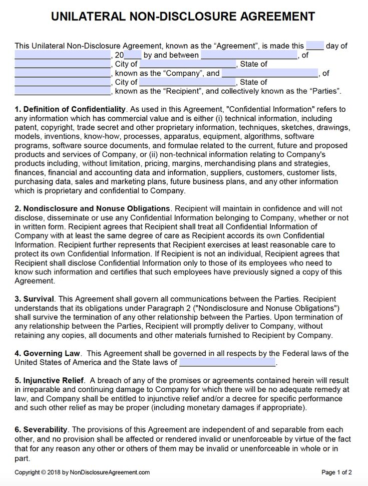 Pin On Agreement Template