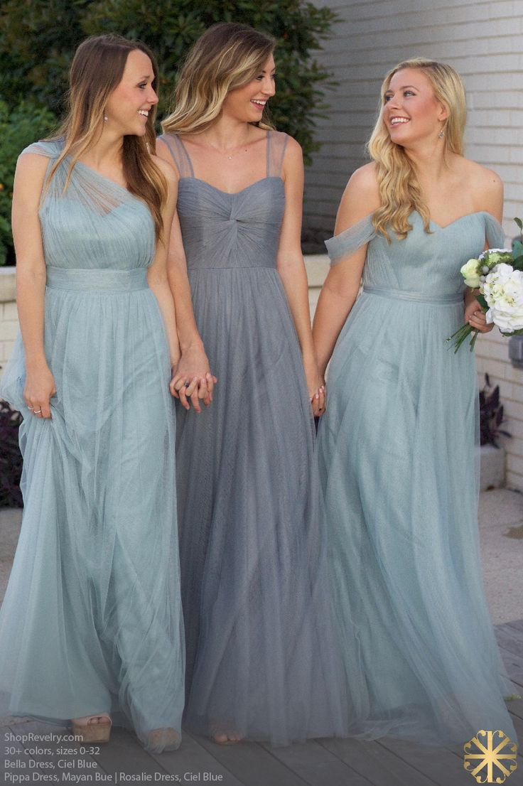 107 best bridesmaid style images on pinterest bridesmaids revelry dresses bella dress tulle ciel blue pippa dress tulle mayan blue rosalie convertible ombrellifo Image collections