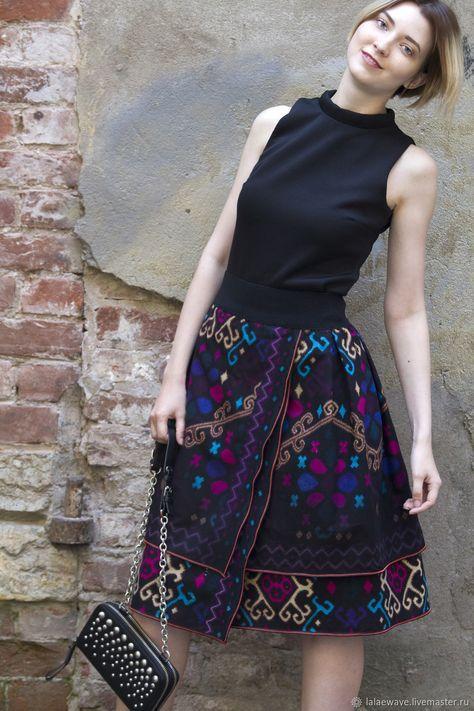 Cotton Skirt | Юбка бохо-шик Night Party - орнамент, юбка, юбка летняя, юбка на талии