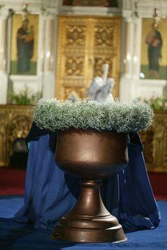 #florisspecialevents.com #greek #orthodox #baptism #blue #his