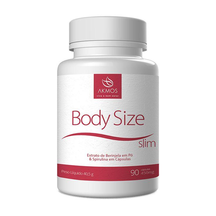 Body Size Slim Akmos produtos elaborado com Berinjela e Spirulina em Pó 100% natural que possui ação altamente diurética, combate inflamação dos rins e bexiga.