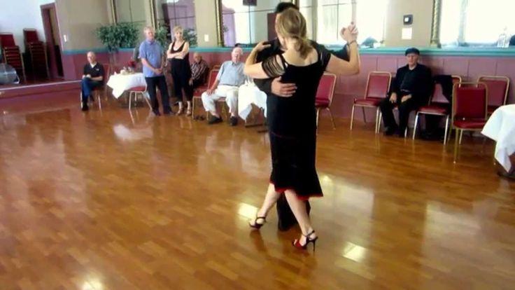 Argentine Tango Figure with Slow Motion   Multiple Sacadas + Barrida, Tr...