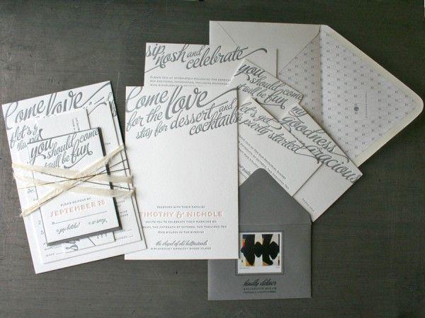 98 best Wedding Invite Inspiration images on Pinterest