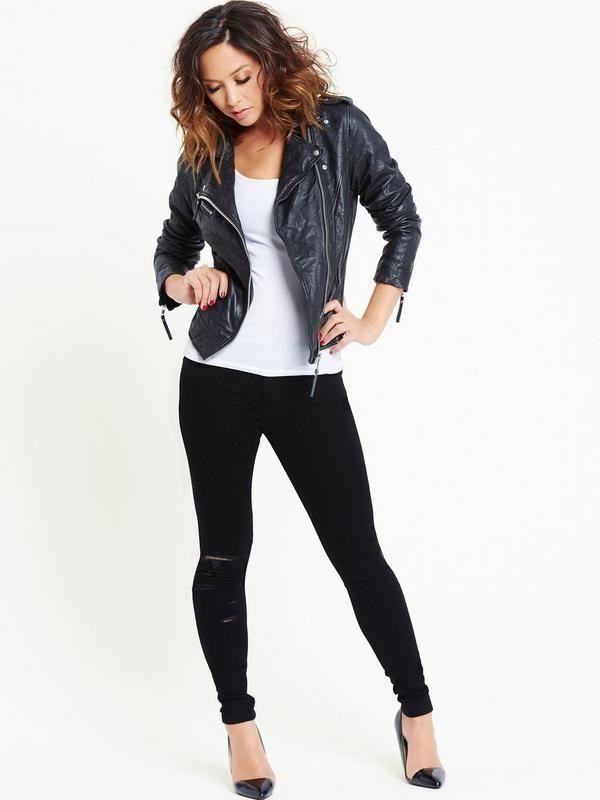 Myleene Klass Leather Jacket | littlewoods.com