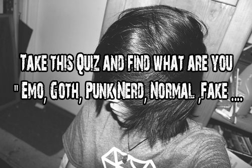 Are You Emo? - Make a Quiz Online Quibblo!