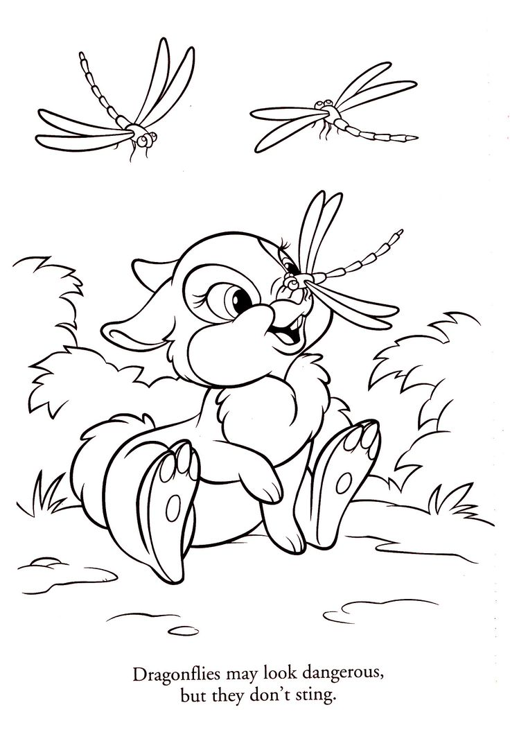 thumper twitterpated disney coloring pages - Pictures For Children To Colour In Disney