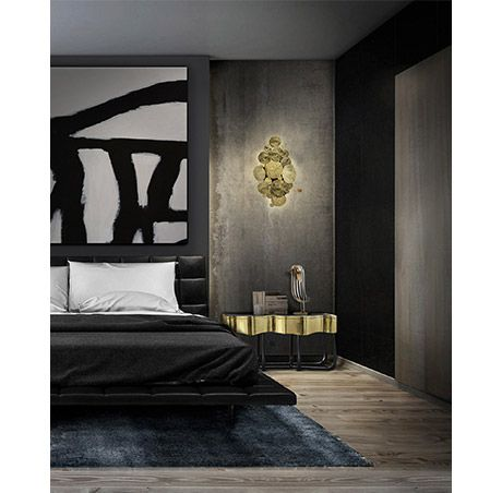 Boca do Lobo | Characterized by luscious curves and a sleek gold plate finish, the Sinuous Nightstand has a luxurious flux to it. Combining a classic aesthetic with a modern touch. #goldnightstand #contemporarynightstand #goldbedsidetables Find more here: http://www.bocadolobo.com/en/master-bedroom-collection/nightstands/sinuous-nightstand/
