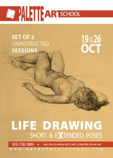 Uninstructed Life Drawing Sessions (2 days)