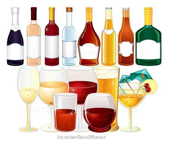 Drink clipart Wine clipart Alcohol clipart Bottle clipart cocktail clipart drink clip art wine clip art png files png clipart Party clipart by DigitalCSPrintables