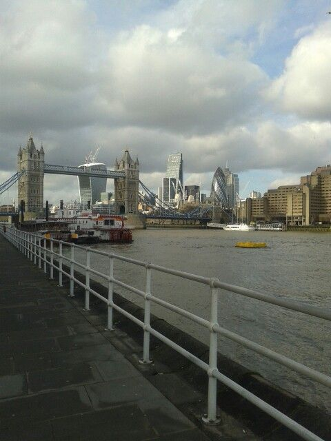 View of Tower Bridge from the grounds of Design Museum, #London