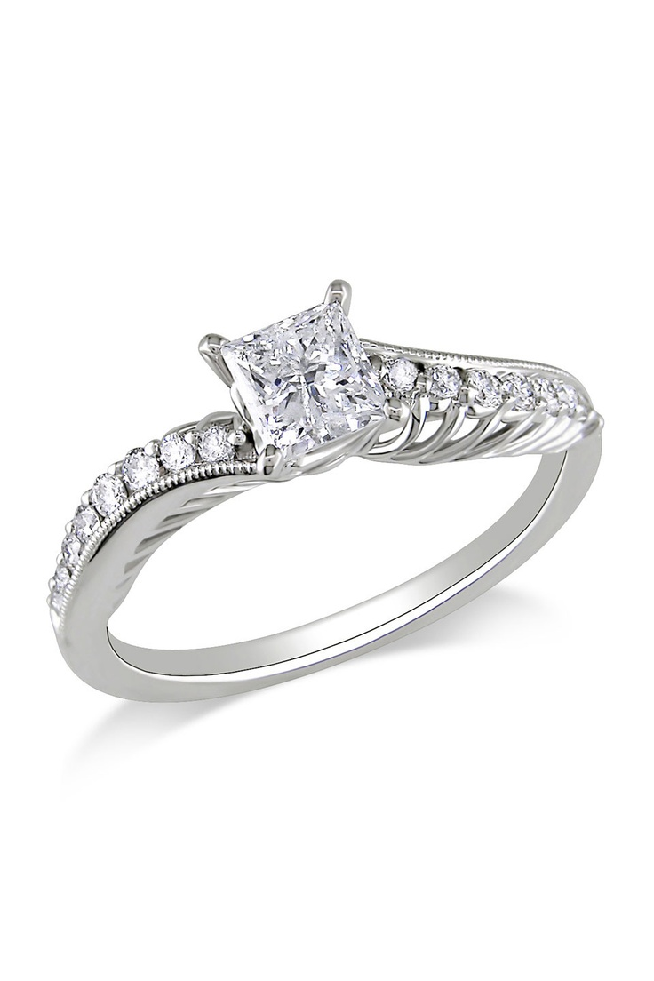 3 4 ct Diamond Engagement Ring in 18k White Gold has potential but prolly