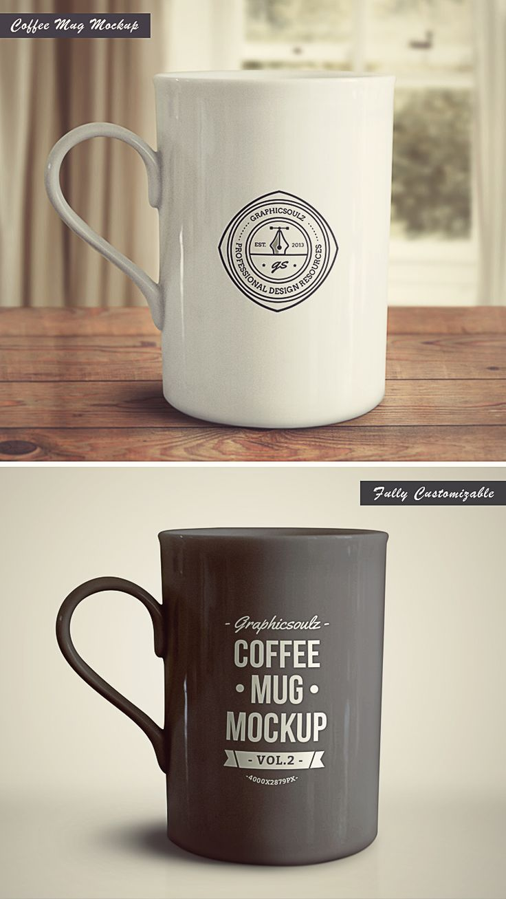 Coffee Mug Mockup - Vol.2   GraphicSoulz - Premium Design Resources Created by Professionals for Real Designers!