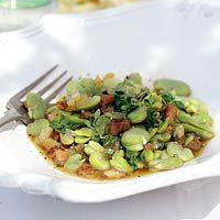 Recept - Tuinbonen met spekjes en tijm - Allerhande