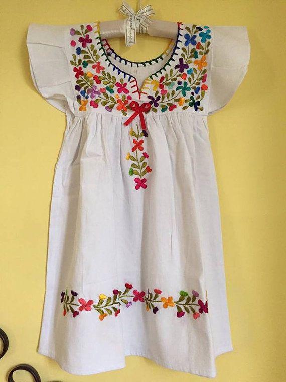 Mexican dress girls dress vestido mexicano by Miamorcitocorazon