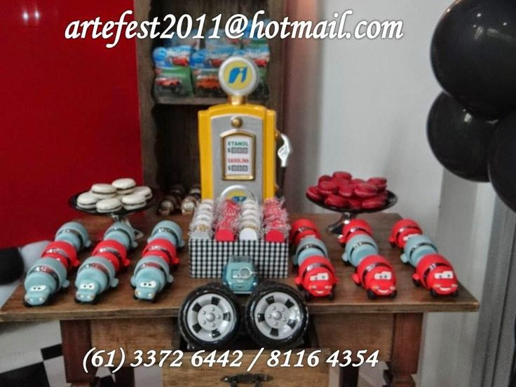 ARTEFEST - DECORAÇÃO PROVENÇAL: Mesa rústica - Decoração Carros 3 anos do Felipe