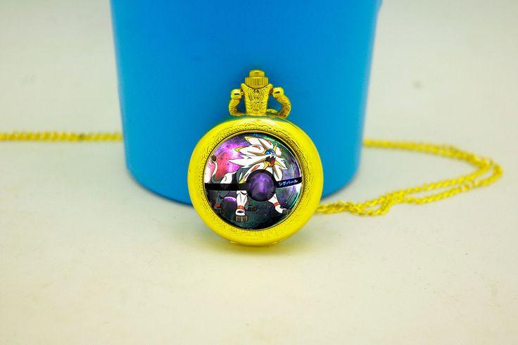 PokeMonster Pokeball Solgaleo Quartz Watches,Pokemon XY Women Jewelry Pendant