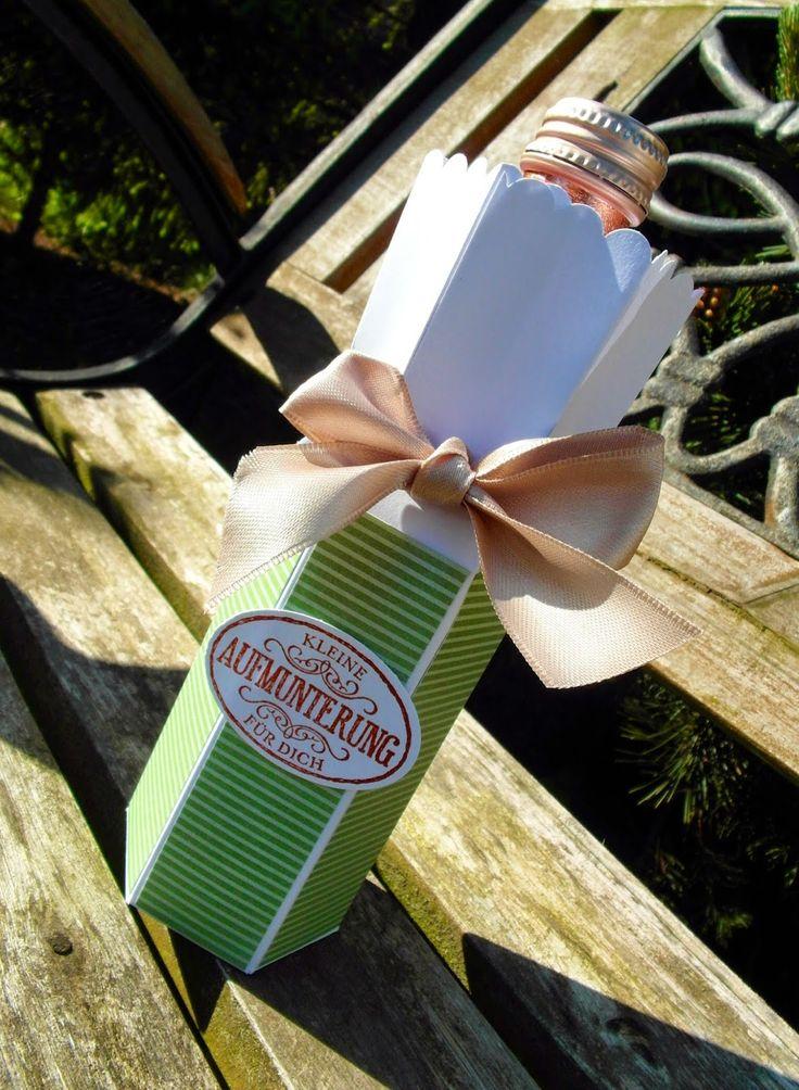 Mein Haus, mein Garten, mein Hobby.: Flaschenverpackung mit dem Envelope Punchboard