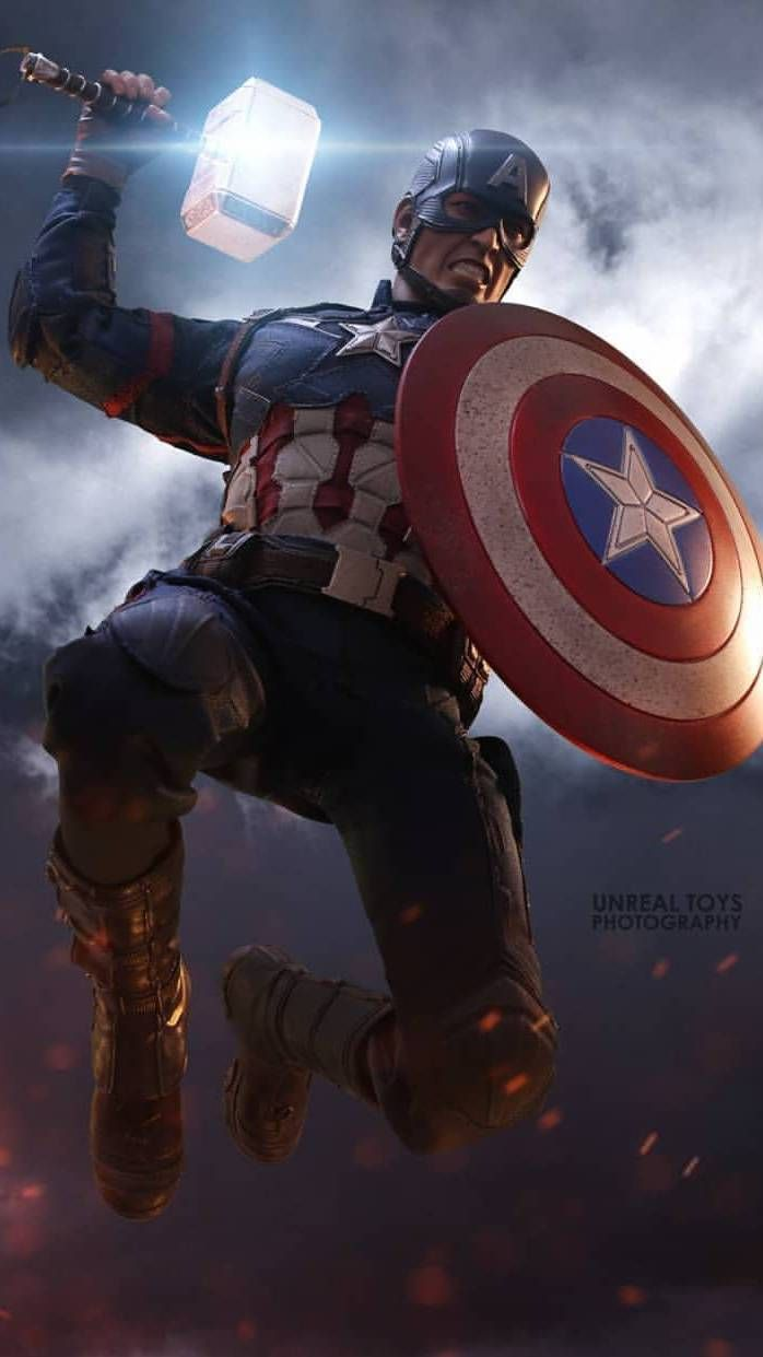 Captain America Lift Thor Hammer Worthy Iphone Wallpaper Captain