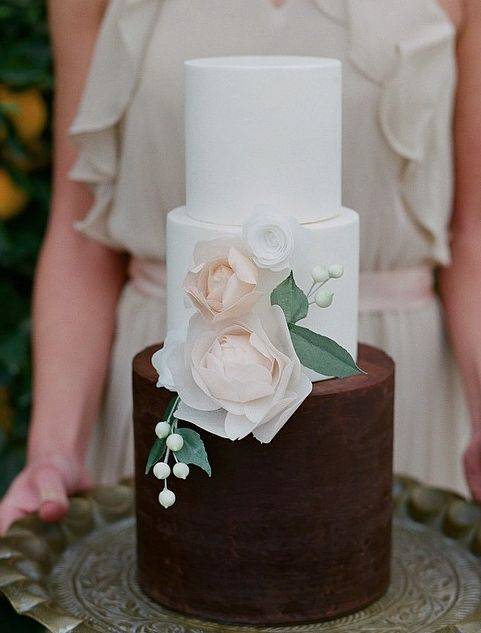 half brown white wedding cake 17 best ideas about brown wedding cakes on 15048