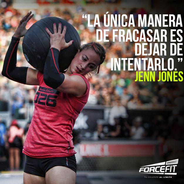 La única manera de fracasar es dejar de intentarlo. #JennJones #Jones #CrossfitGirl #Crossfit #Forcefit #Motivacion #Sexy #Strong #FitGirl #Frases #Fitness