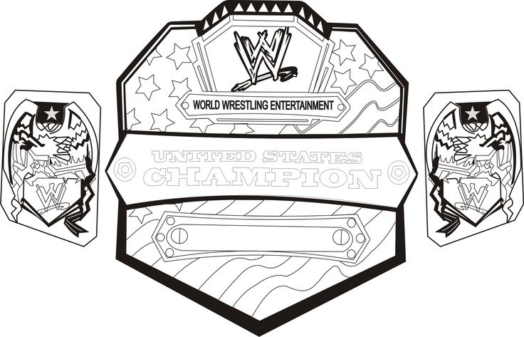 wwe coloring pages - Free Large Images | wwe coloring pages in 2018 ...