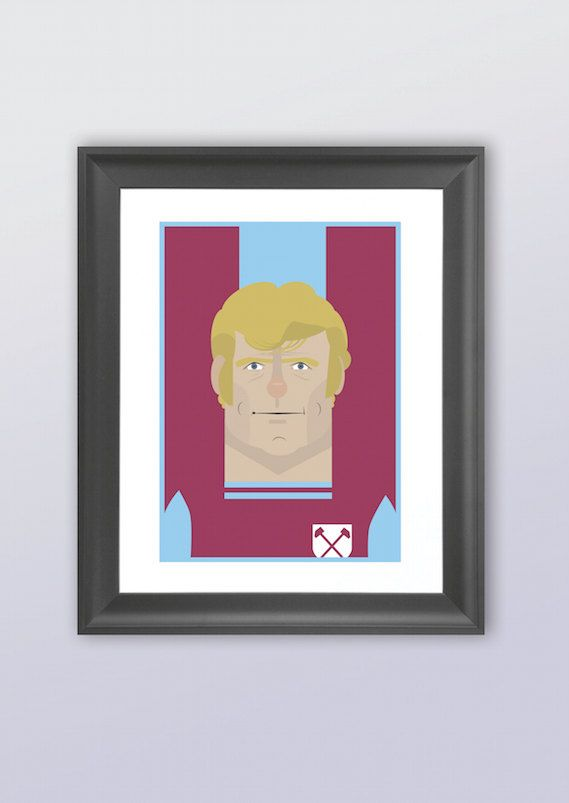 Bobby Moore West Ham  by GRalphsIllustrations on Etsy, £14.00