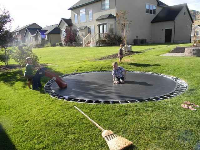 20 best images about in ground trampolines on pinterest flag stone backyards and search. Black Bedroom Furniture Sets. Home Design Ideas