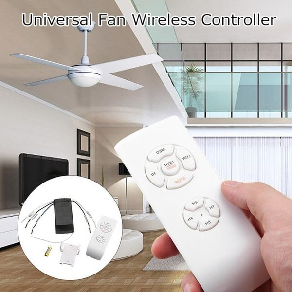 Universal Ceiling Fan Lamp Remote Control Kit Timing Wireless Receiver Home Tool Fan Lamp Remote Ceiling Fan