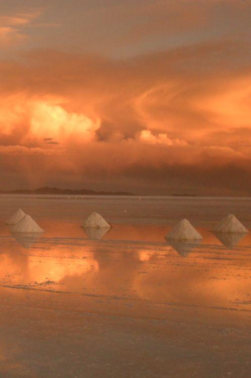 Sunset at Salt Flats, Uyuni - Bolivia