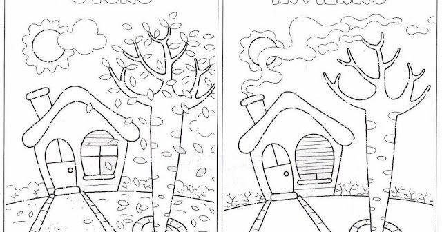 2 Fichas Para Colorear Sobre Las Estaciones Del Ano Ideal Para Cualquier Ciclo Estaciones Del Ano Actividades De Invierno Para Ninos Las Estaciones En Ingles