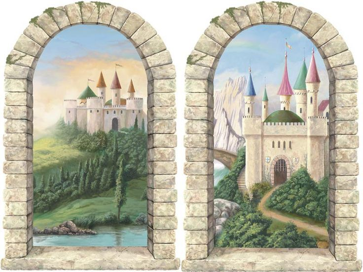 1000 ideas about castle mural on pinterest castle bed for Castle wall mural