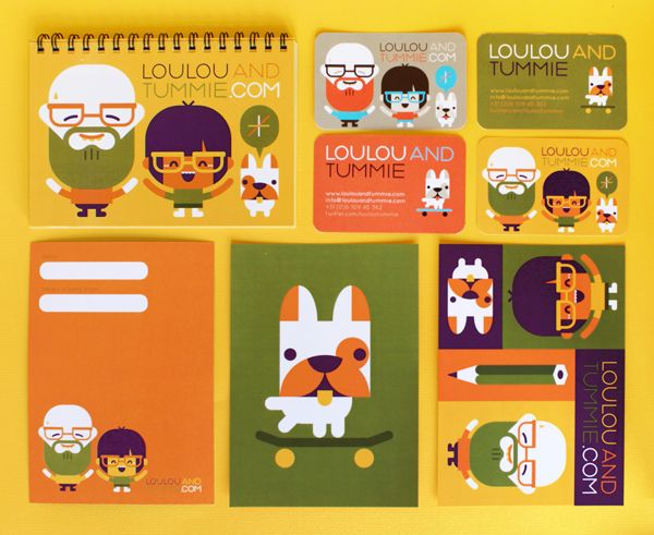 Loulou & Tummie  identity by Loulou and Tummie , via Behance
