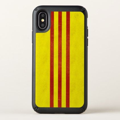 South Vietnam Light Grunge Flag Speck iPhone X Case - gold gifts golden customize diy