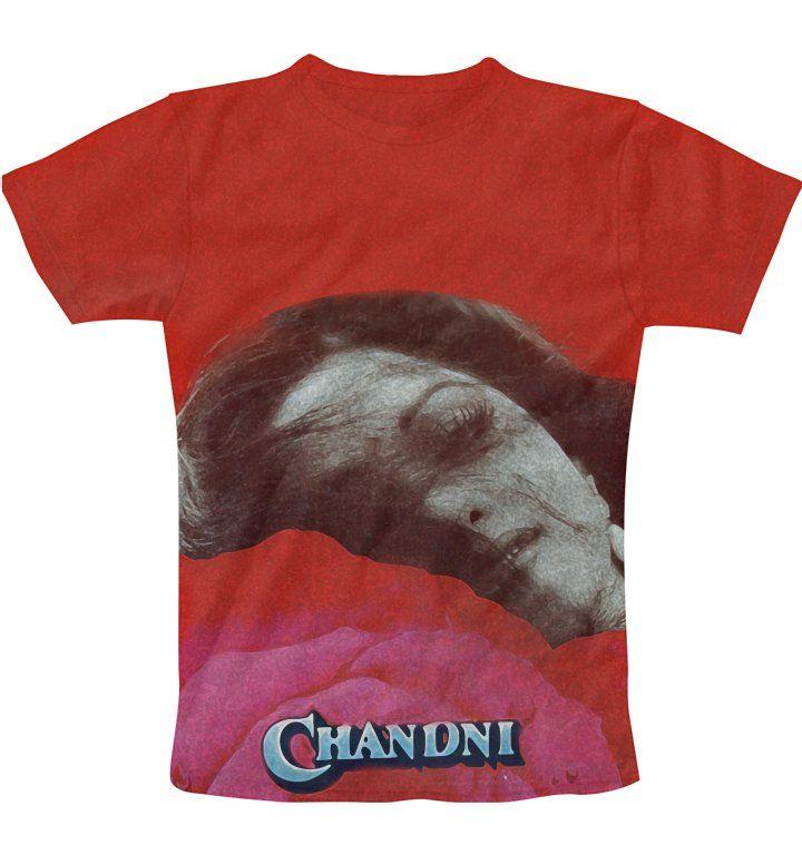 Chandni Retro print Poster T-Shirt