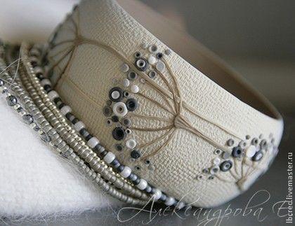 Polymer clay bangle. Евгения Александрова.