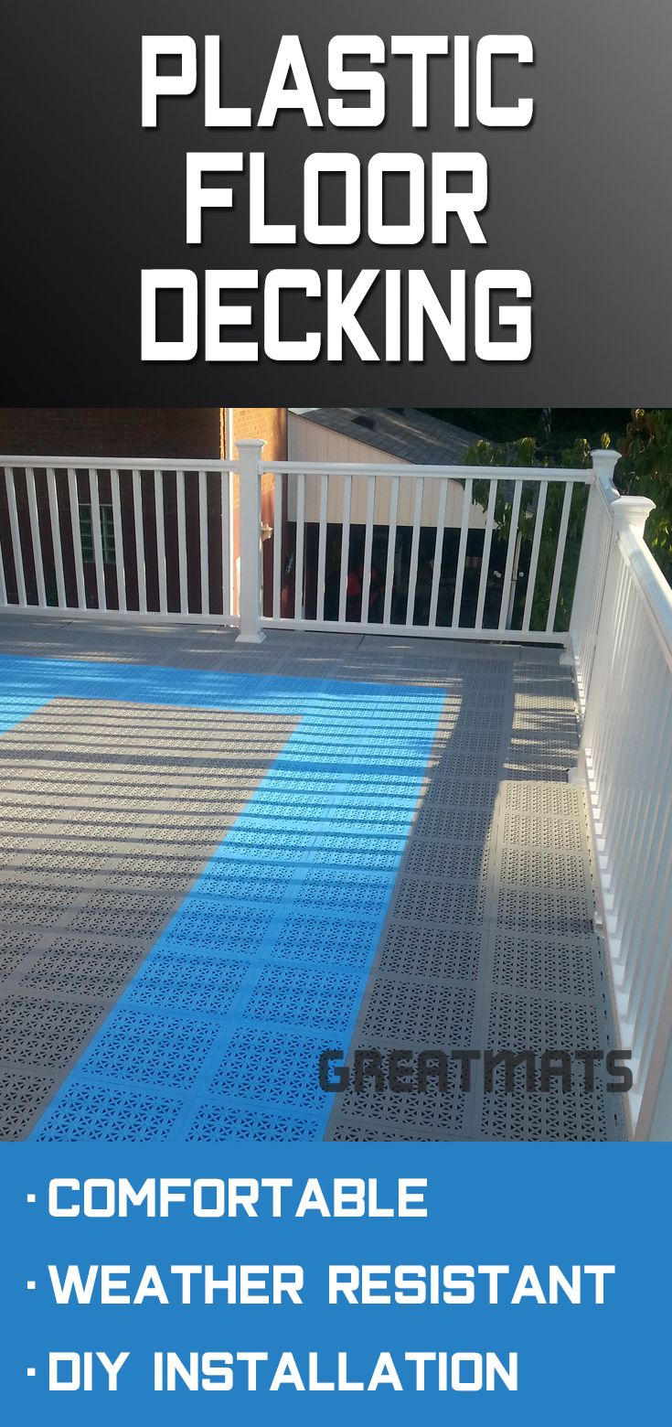 Top 5 Deck Tile Materials Rubber Plastic Foam Wood Faux Turf