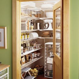 Walk in pantry. Replace solid door with glass?: Kitchens, Organization, Container Store, Dream, Kitchen Pantries, Kitchen Pantry, House