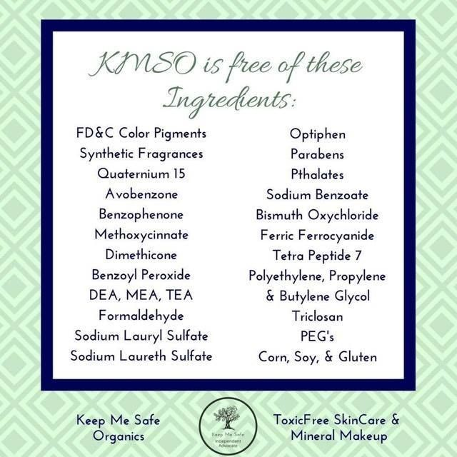 Kmso Is Free From All Of These Ingredients Our Natural Mineral Makeup Is Just That Natural Derived Rig Keep Me Safe Safe Skincare Natural Mineral Makeup