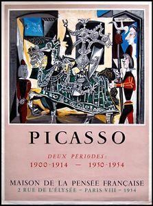 Picasso Original-Plakat Poster Lithografie Deux Périodes 1954 Mourlot   eBay